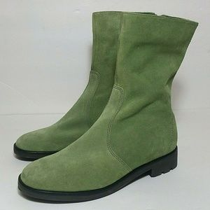 Talbots faux suede mid calf boots size 8 B